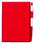 Poznámkový blok A6 s perem, červená