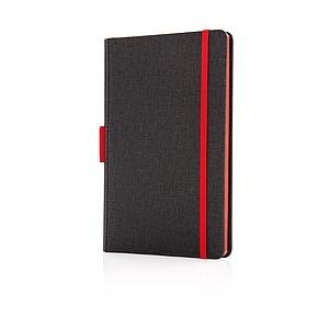 Kvalitní poznámkový blok A5 s prostorem na pero, červená