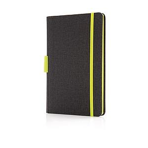 Kvalitní poznámkový blok A5 s prostorem na pero, zelená