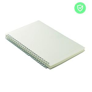 Kroužkový zápisník A5 s antibakteriálním povrchem a 80 linkovanými stranami