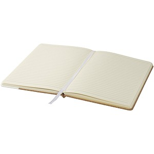 Korkový zápisník A5, středně hnědá