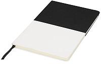 Dvoubarevný plátěný zápisník A5, černá