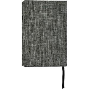 Zápisník A5 s přední kapsou, černá/šedá