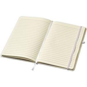 Zápisník A5 s elastickým uzávěrem, bílá
