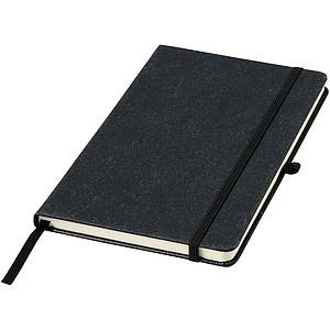 Zápisník A5 s kousky kůže, černá