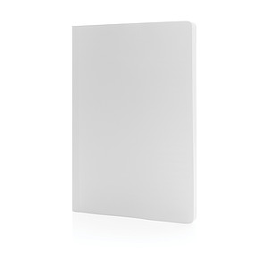 Kamenný poznámkový blok A5 Impact s měkkou vazbou, bílá