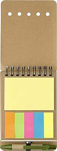 CARTMAN Zápisník se značkovacími lístky a KP s černou náplní - reklamní bloky