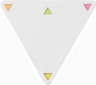 SOVERATA Set značkovacích lístků v trojúhelníkovém bločku, bílý - reklamní kancelářské potřeby