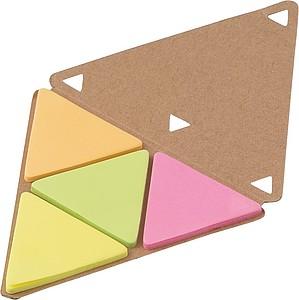 SOVERATA Set značkovacích lístků v trojúhelníkovém bločku, bílý