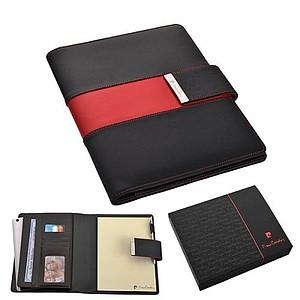 PIERRE CARDIN CHARENTE Konferenční desky s ozdobným pruhem, červený