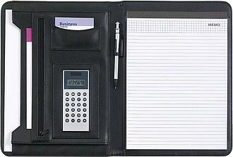 DĚKAN Konferenční desky A4 skalkulačkou a blokem,černá