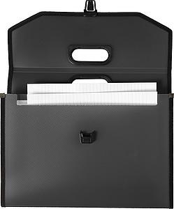 Plastová sloha na dokumenty A4, černá