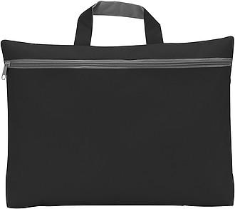 OXIDO Taška na dokumenty na zip, 300d polyester, černá