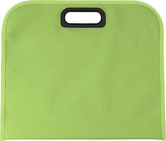 DEDERON Konferenční taška s integrovaným plastovým uchem, světle zelená