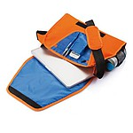 SHARON Dvoubarevná konferenční taška přes rameno, oranžová, modrá