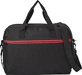 ALPERT Černá taška na rameno s červeným zipem