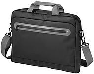 Konferenční aktovka s přední kapsou na zip, černá