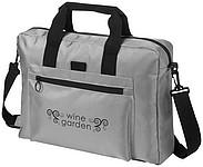 Konferenční taška s přední kapsou na zip, šedá