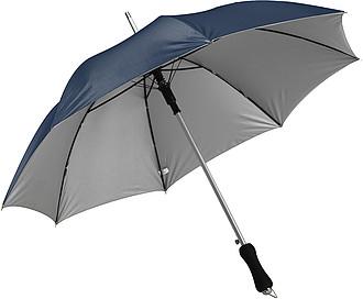 LAURENT Vystřelovací deštník se stříbrnou spodní stranou, modrý, rozměry 104 x 83 cm