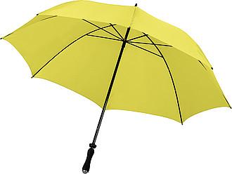ERNST Golfový deštník, žlutý, rozměry 130 x 102 cm