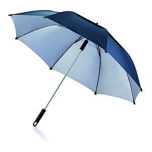 Velký storm deštník o průměru 120 cm, tmavě modrá, stříbrný vnitřek