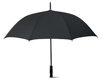 Automatický deštník z hedvábného PE s EVA rukojetí, černá