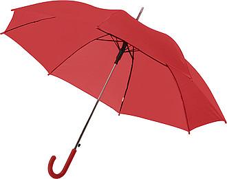 BOTTICELLI Vystřelovací deštník s barevným držadlem, červený, rozměry 100 x 84 cm