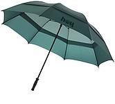 Velký dvouvrstvý deštník o průměru 142 cm, tmavě zelená