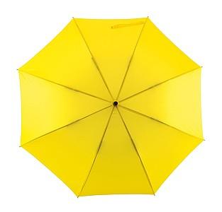 Automatický větru odolný deštník, žlutý, pr. 103 cm