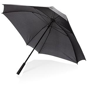 Manuální hranatý deštník s XL prostorem na branding, průměr 102 cm, černá