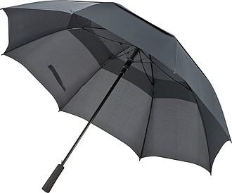 Golfový deštník 130x97cm, černý
