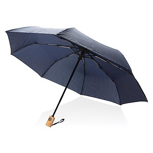 GETAFO Automatický deštník z recyklovaného PET materiálu, průměr 96 cm, námořní modrá - reklamní deštníky