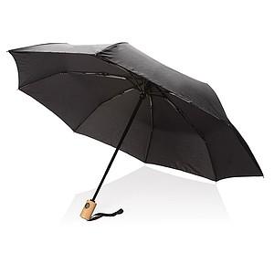 GETAFO Automatický deštník z recyklovaného PET materiálu, průměr 96 cm, černá - reklamní deštníky