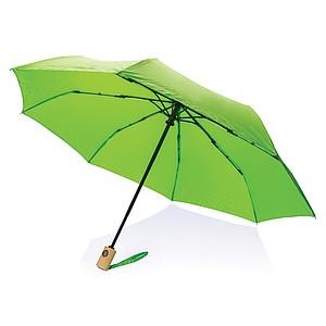 GETAFO Automatický deštník z recyklovaného PET materiálu, průměr 96 cm, světle zelená - reklamní deštníky