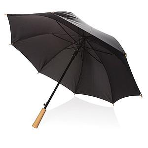 Automatický odolný deštník z recyklovaného PET materiálu, průměr 103 cm, černá