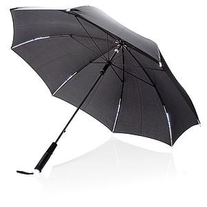 """TAURAGOS 23"""" manuální deštník s LED světlem, černá - reklamní deštníky"""