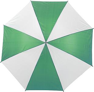 ALLEY Deštník s osmi barevnými panely, rozměry 102 x 84 cm, zelený - pláštěnky