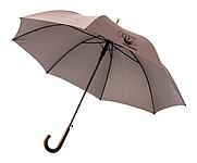 Automatický holový deštník s drobným vzorem, hnědá