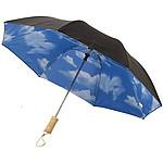 Automatický dvouvrstvý deštník se vzorováním, černá