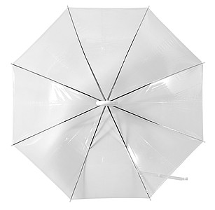 Holový transparentní deštník, rozměry 86 x 73 cm - reklamní deštníky