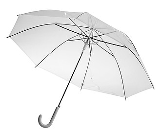 Holový transparentní deštník, rozměry 86 x 73 cm