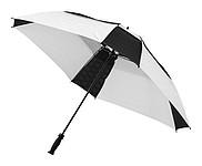 Automatický čtvercový deštník Slazenger, bílá, černá