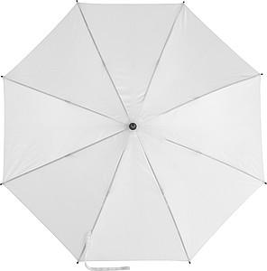 EDUARDO Holový automatický deštník, pr. 106,5 cm, bílý - reklamní deštníky