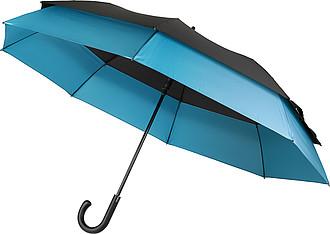 NARDOL Velký rodinný deštník, modrá, parametry 124 x 83 cm