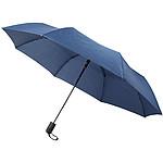 """Třídílný 23"""" reverzní deštník s automatickým otevíráním, černá"""