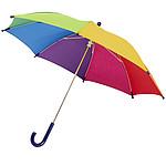 Duhový větruodolný deštník s automatickým otvíráním, průměr 102, vícebarevná