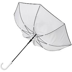Větruodolný barevný deštník s automatickým otvíráním, průměr 102 cm, bílá