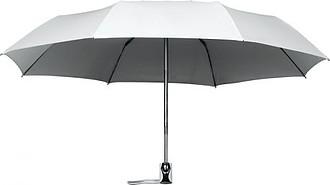 UMBERTO Skládací deštník se systémem open-close, tmavě šedá - reklamní deštníky