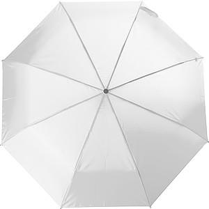 Teleskopický dámský deštník v obalu, rozměry 84 x 55 cm, bílý - pláštěnky
