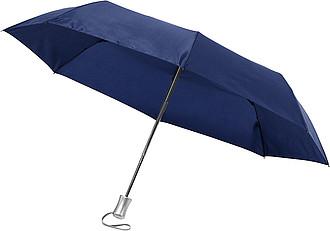 GIOVANNI Skládací deštník, automatické otvírání i zavírání, průměr 96 cm, modrý
